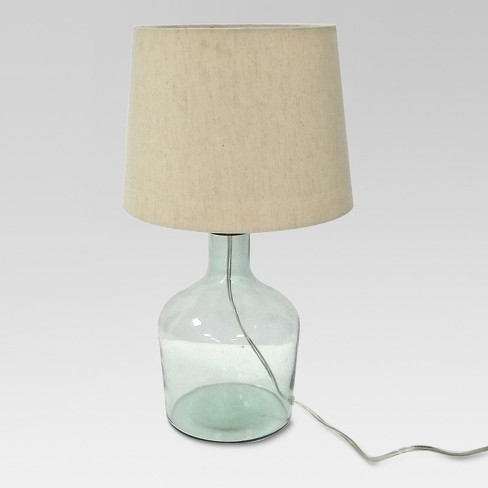 Design For Good Recycle Glass Table Lamp Cream Includes Energy