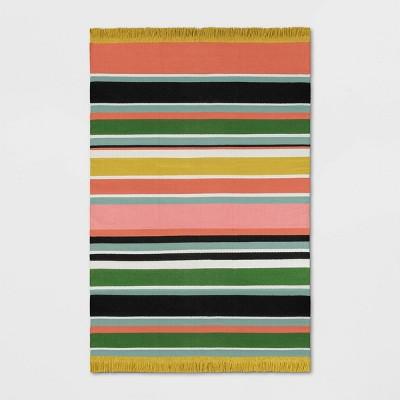 7'X10' Stripe Woven Area Rug Yellow - Opalhouse™