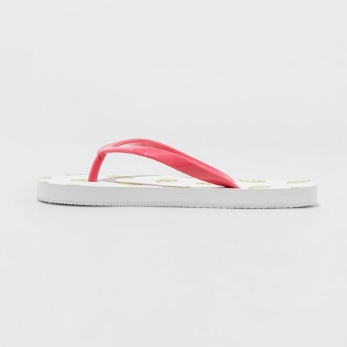 c28129d5a Girls  Mari Avocado Toast Flip Flop Sandals - Cat   Jack™ White   Target