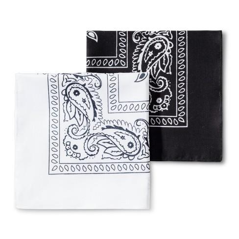 Men's 2pk Bandana Set - Goodfellow & Co™ White/Black One Size - image 1 of 2