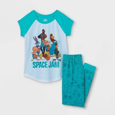 Girls' Space Jam 2pc Pajama Set - Green