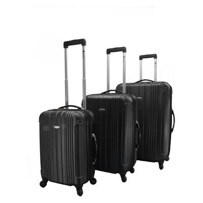 Dumont Avery 3pc Hardside Spinner Luggage Set - Black