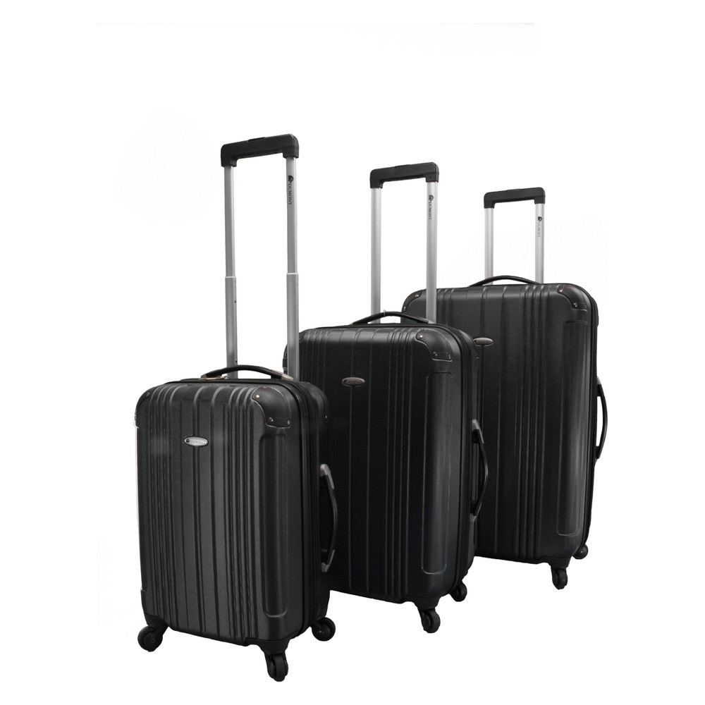 Dumont Avery 3pc Hardside Spinner Luggage Set - Black
