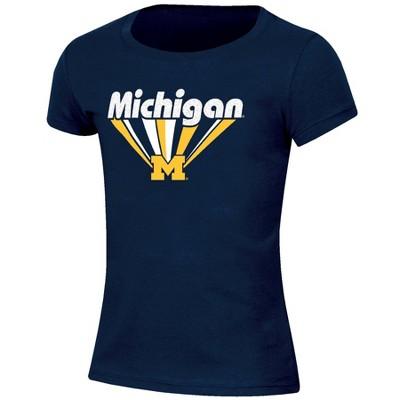 NCAA Michigan Wolverines Girls' Short Sleeve Scoop Neck T-Shirt