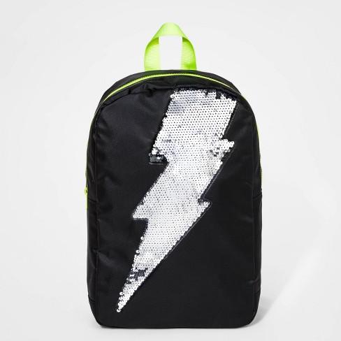 Boys' Sequin Detail Backpack - Cat & Jack™ Black - image 1 of 3
