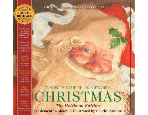 Night Before Christmas : or, A Visit from St. Nicholas: The Heirloom Edition (Hardcover) (Clement Clarke - image 1 of 1