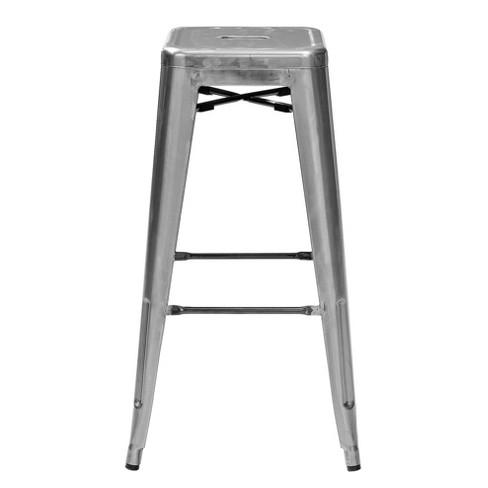 Remarkable Amelia Metal Caf Barstool Set Of 2 Galvanized Crosley Forskolin Free Trial Chair Design Images Forskolin Free Trialorg
