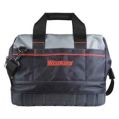 WESTWARD 53JW37 Tool Bag,General Purpose,16 Pockets, Nylon, 16 Pockets, Black