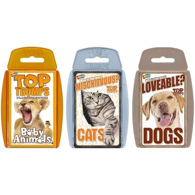 Top Trumps Cute Animals Top Trumps Card Game Bundle   Cats   Dogs   Baby Animals