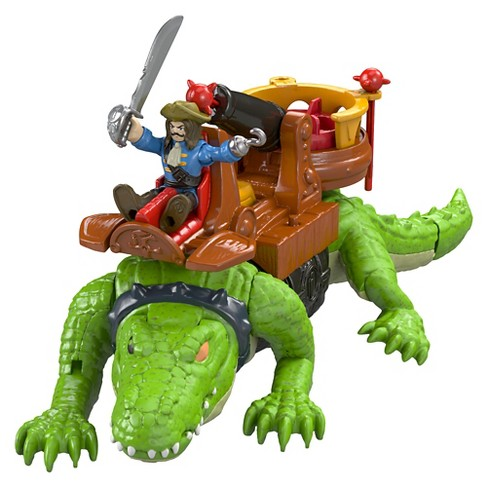 Fisher-Price Imaginext Walking Croc & Pirate Hook - image 1 of 12