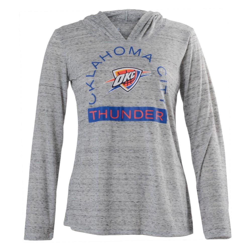 Oklahoma City Thunder Women's Tech Arch Gray Lightweight Hoodie Xxl, Multicolored