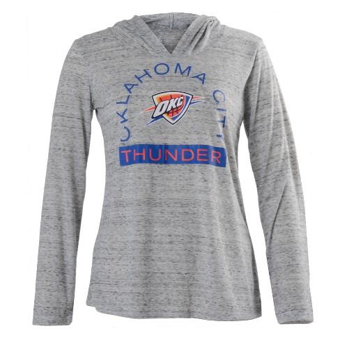 NBA Oklahoma City Thunder Women s Tech Arch Gray Lightweight Hoodie ... 1c06da657