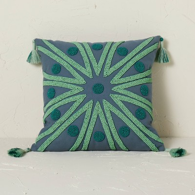 Beaded Radial Pattern Square Throw Pillow - Opalhouse™ designed with Jungalow™