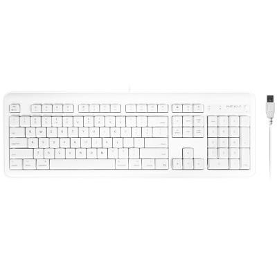 Macally Full 104 Key USB Wired Keyboard - 2 USB ports
