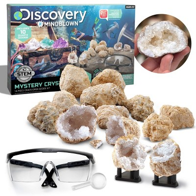 Discovery Kids Toy Mystery Crystals Geode Excavation Science Kit 14pc
