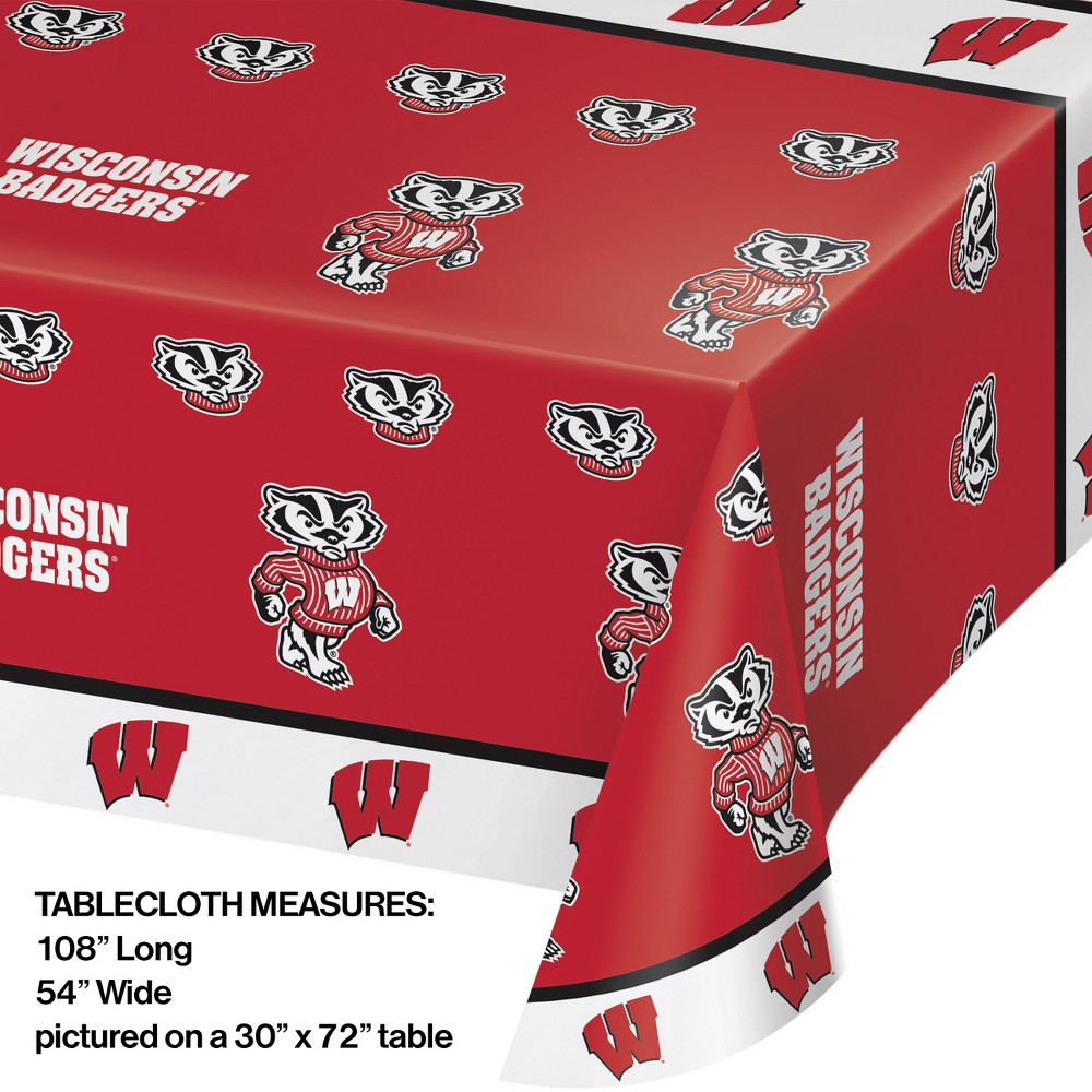 Image of Wisconsin Badgers Plastic Tablecloth