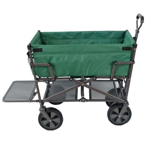 Mac Sports Heavy Duty Steel Double Decker Collapsible Yard Cart Wagon 48b93e939