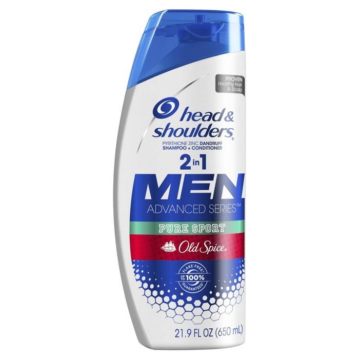Head & Shoulders Old Spice Pure Sport Dandruff 2 In 1 Shampoo + Conditioner - 21.9 Fl Oz : Target