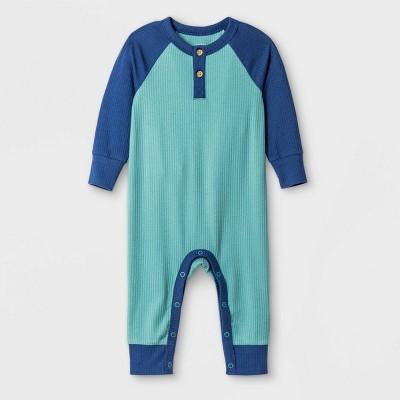 Baby Boys' West Coast Ribbed Romper - Cat & Jack™ Green 0-3M