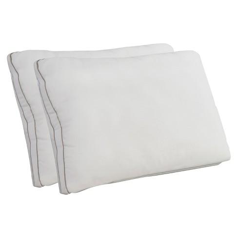 memory foam and fiber 2pk pillow jumbo white comfort revolution - Comfort Revolution Pillow