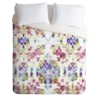 Schatzi Brown Bexeley Tie Dye Rainbow Comforter Set - Deny Designs