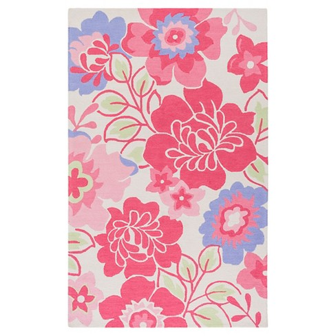 Linn Kid's Rug Bright Pink - Surya - image 1 of 1