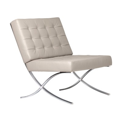 Studio Designs Home Atrium Bonded Leather Barcelona Chair