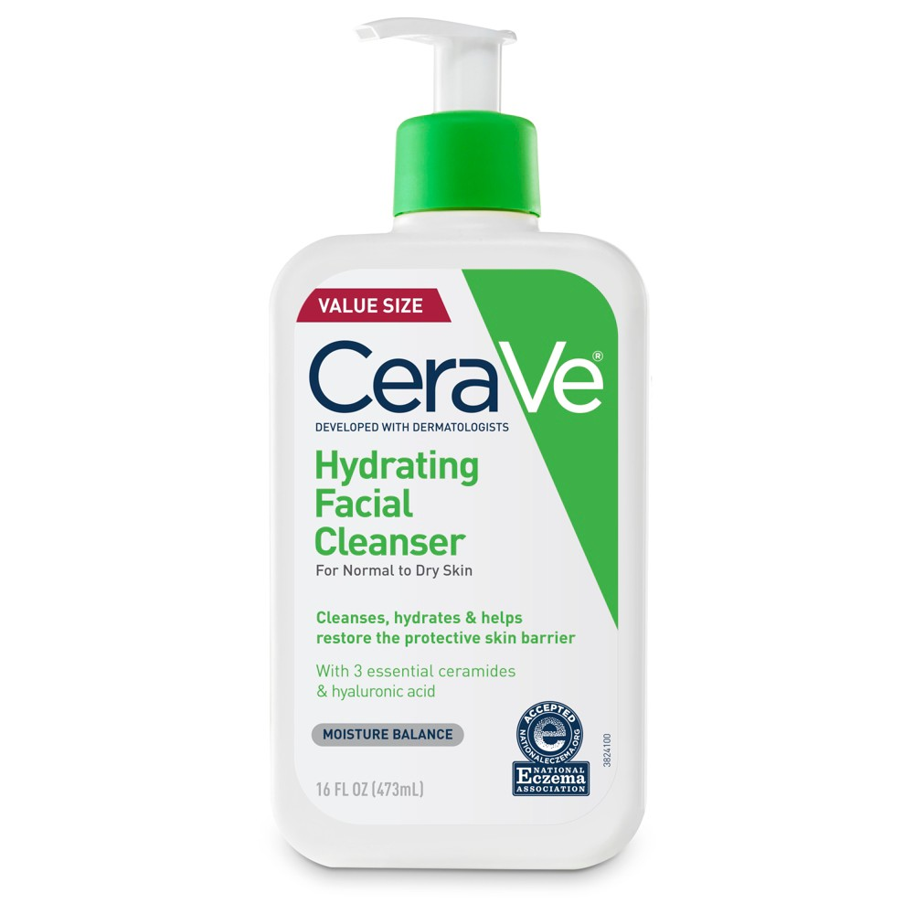 CeraVe Hydrating Facial Cleanser for Normal to Dry Skin - 16oz