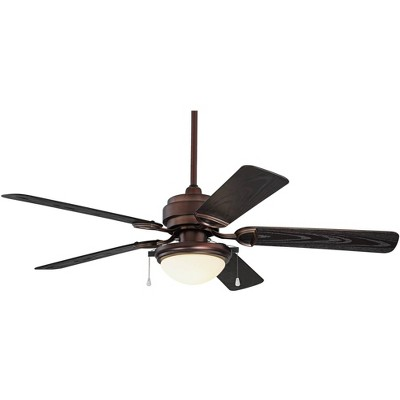 "52"" Casa Vieja Outdoor Ceiling Fan with Light LED Oil Brushed Bronze Wet Rated for Patio Porch"