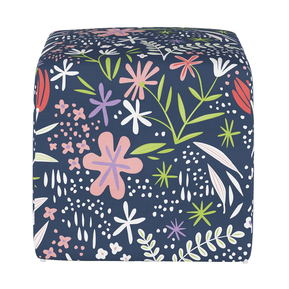 Image of Kids Cube Ottoman Lucy Floral - Pillowfort