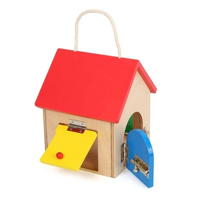 Small Foot Wooden Toys Compact House Of Locks Playset