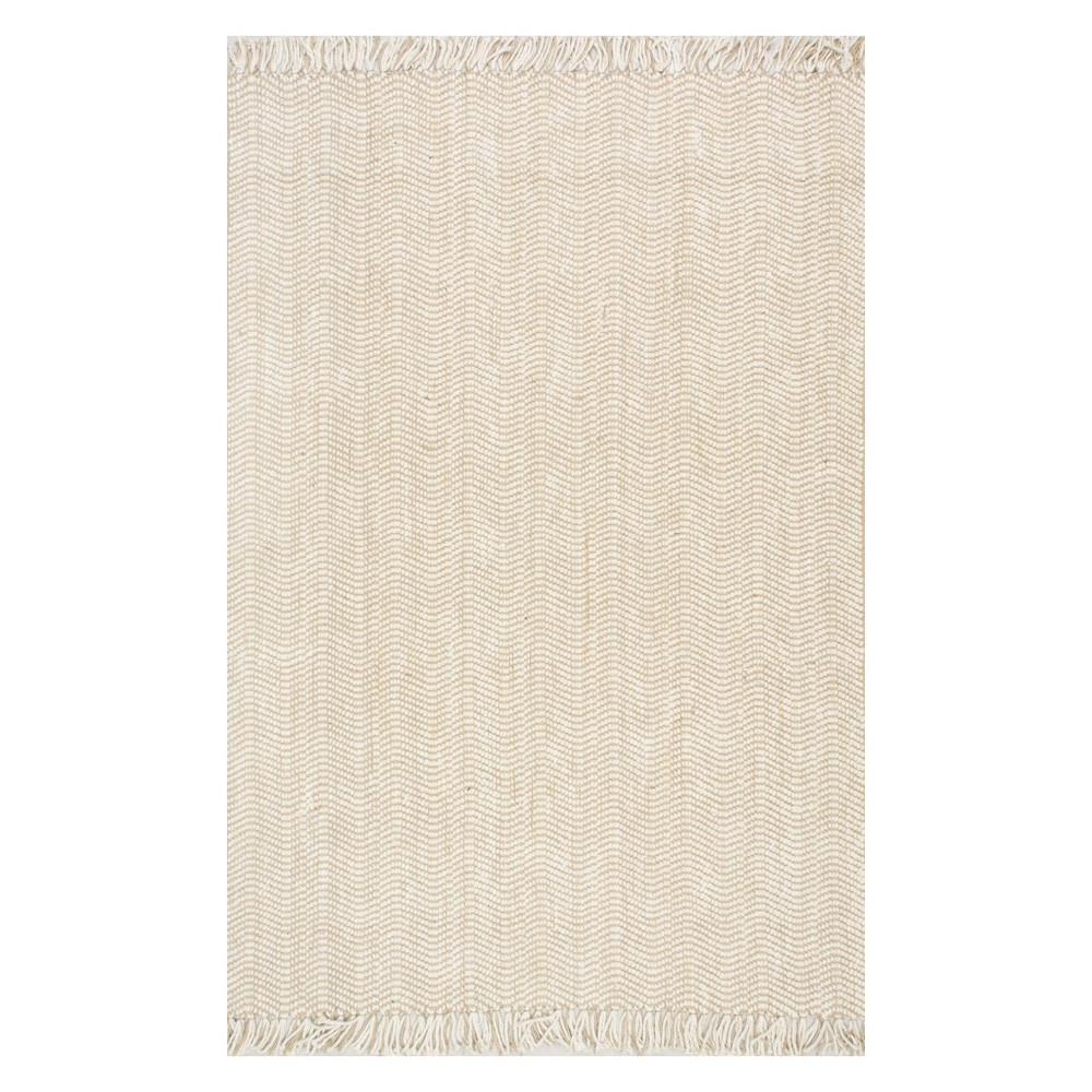 Off-White Solid Tufted Area Rug 9'X12' - nuLOOM, Blue