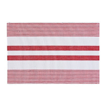 C&F Home Red & White Stripe Cotton Woven Placemat Set of 6