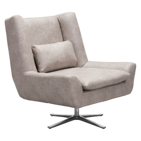 . Modern Occasional Chair Distressed Gray   ZM Home