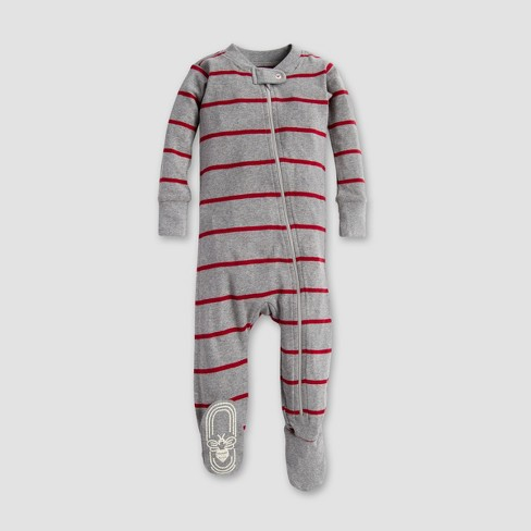 Burt s Bees Baby® Organic Cotton Variegated Footed Pajama Sleeper - Heather  Gray 03264c964