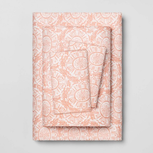 Printed Pattern Easy Care Percale Cotton Sheet Set - Opalhouse™ - image 1 of 1