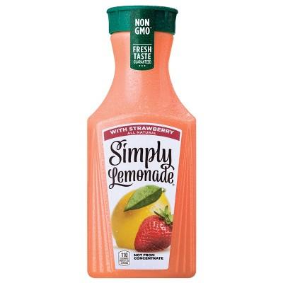 Simply Lemonade with Strawberry Juice - 52 fl oz