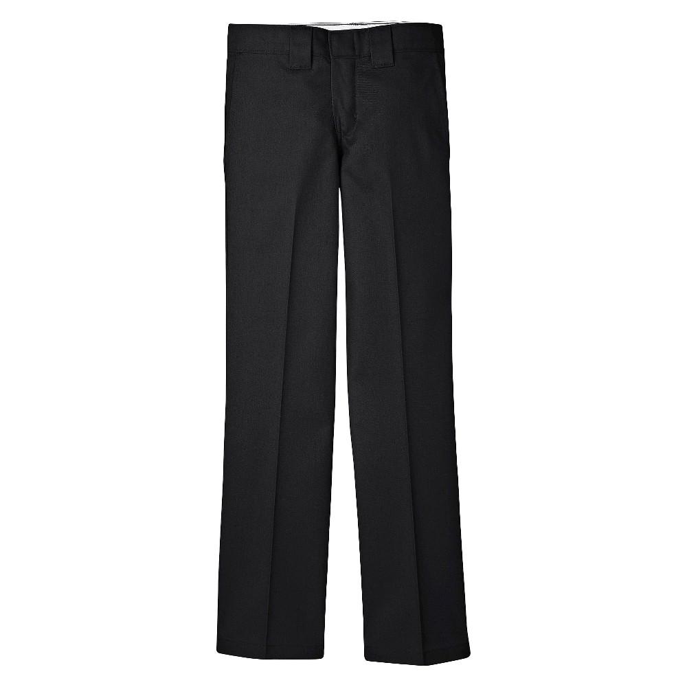 Dickies Boys' Slim Straight Pants - Black 8
