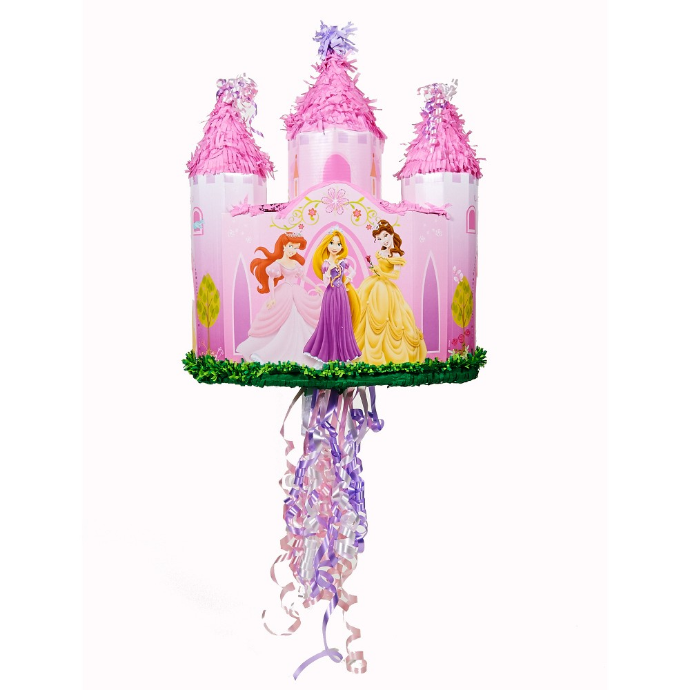 Image of Disney Princess Castle Pull-String Pinata Party Accessories