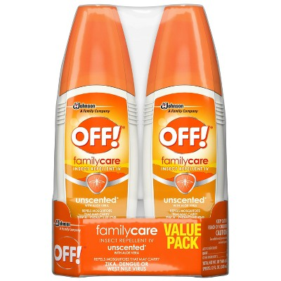 OFF! FamilyCare Unscented Insect Repellent IV - 6oz/2ct