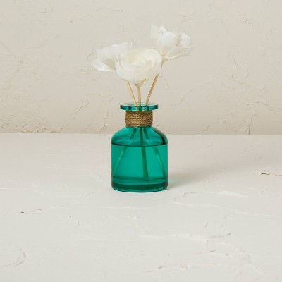 100ml Teal Tropic Oasis Oil Reed Diffuser with 3 Sola Flowers - Opalhouse™ designed with Jungalow™