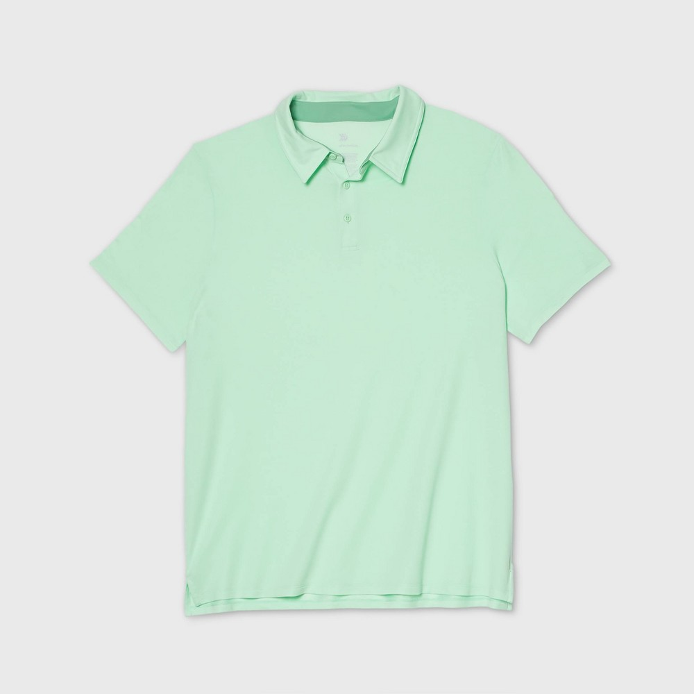Men's Pique Golf Polo Shirt - All in Motion Mint XXL, Green was $22.0 now $12.0 (45.0% off)