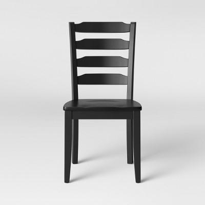 2pk Colebrook Ladder Back Dining Chair Black - Threshold™ : Target