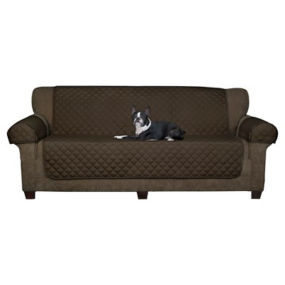 3pc Suede Waterproof Sofa Pet Throw Chocolate - Maytex