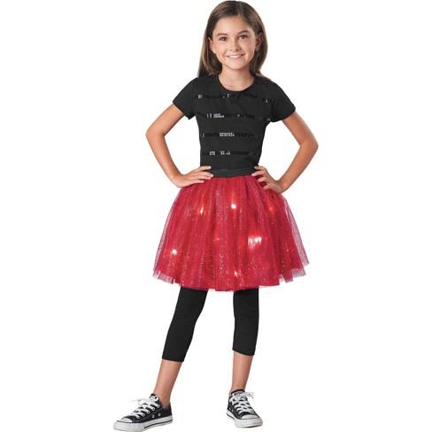 Girls' Light Up Tutu Costume One Size Red - Wondershop™ - image 1 of 1