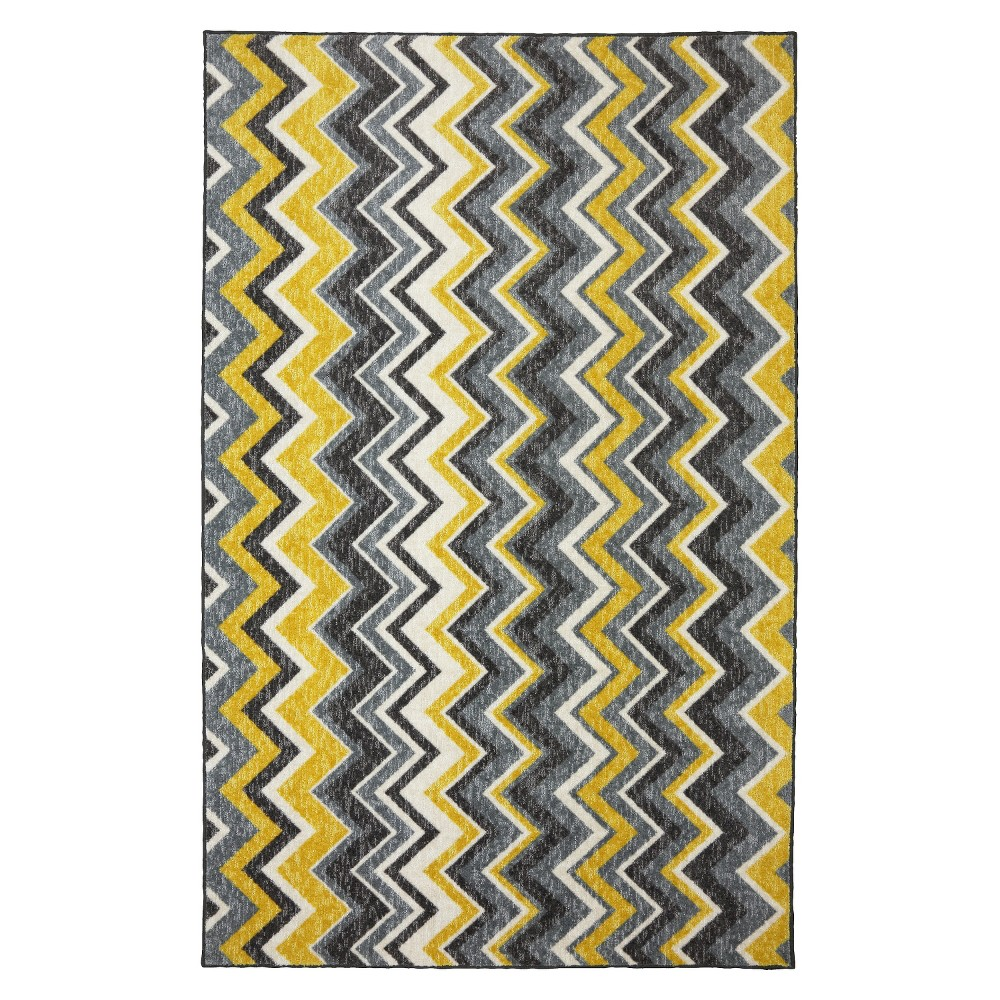 Image of 5'x8' Geometric Area Rug Yellow - Mohawk