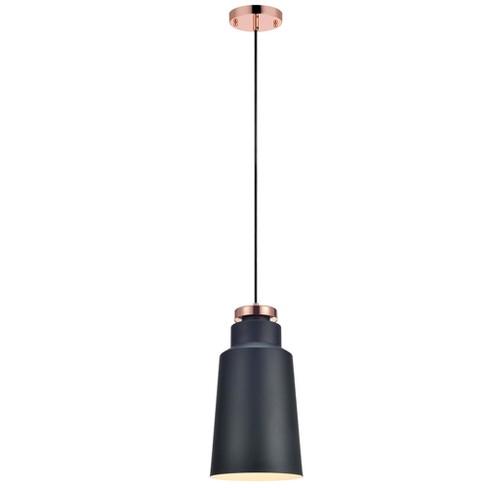 versanora stile metal mini pendant light black gray finish