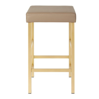 "26"" Gold Backless Counter Height Barstool - OSP Home Furnishings"