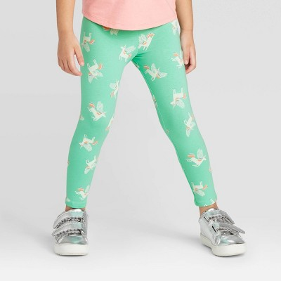 Toddler Girls' Unicorn Leggings - Cat & Jack™ Mint 18M