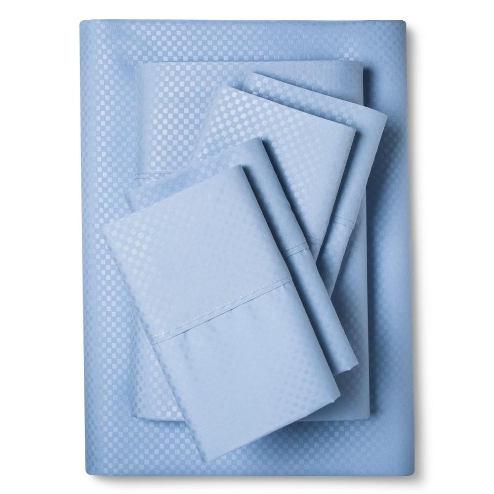 Image of Christopher Knight Home Natalia Cavalletto Check Design Sheet Set - Light Blue (Queen), Lite Blue